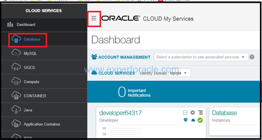 Create Database instance on Oracle Database Cloud – Expert Oracle